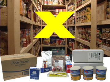 READY UK Food Kits - Emergency Food Storage | calculate minimum 2 fully blanced meals per day to sustain activity | Emergency Preparedness Food Storage solutions from EVAQ8.co.uk the UK's Emergency Preparedness specialist, READY UK